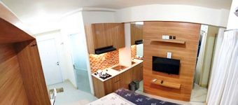 Sewa apartemen studio green pramuka city lantai 28 baru