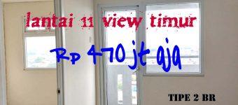 jual murah 2 kamar lantai 11 view timur green pramuka city